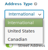 Address Type setting